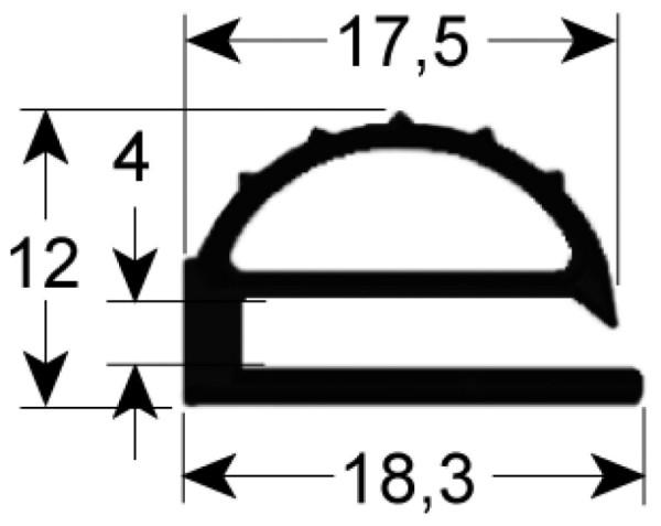 Kältedichtung Profil 9102 L 2500mm