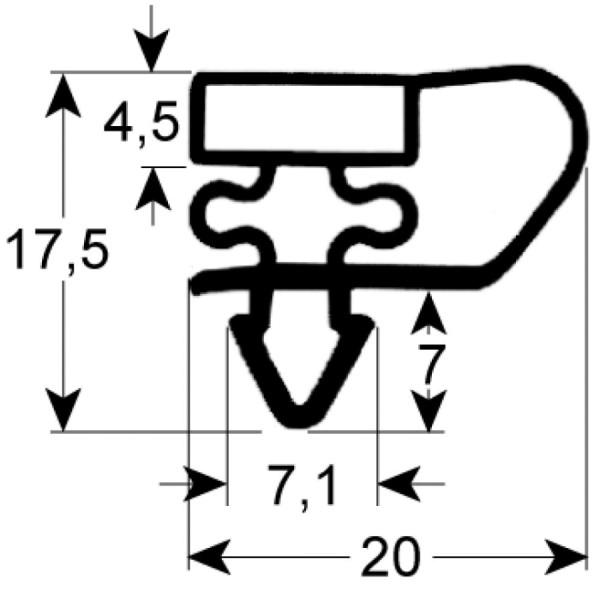 Kältedichtung Profil 9153 L 2500mm