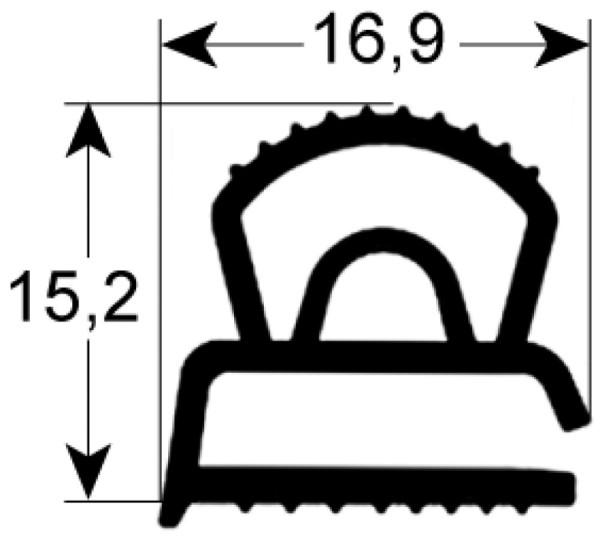 Kältedichtung Profil 9610 L 2500mm