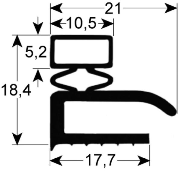 Kältedichtung Profil 9106 L 2500mm