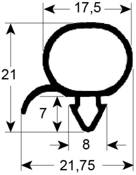 Kältedichtung Profil 9196 L 2500mm