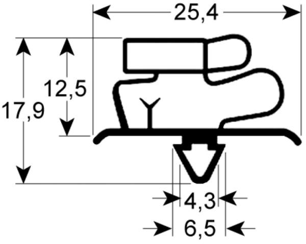 Kältedichtung Profil 9706 L 2500mm