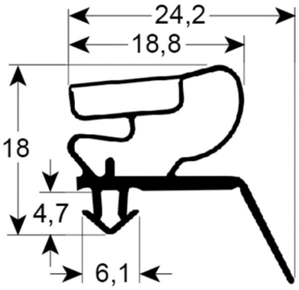 Kältedichtung Profil 9400 L 2500mm