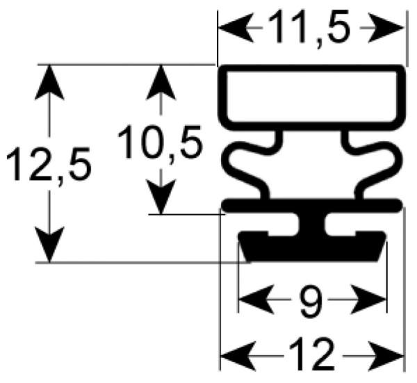 Kältedichtung Profil 9322 L 2500mm
