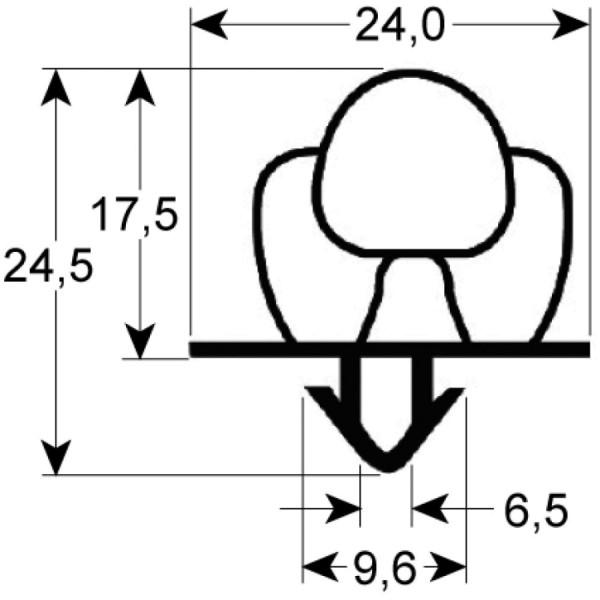 Kältedichtung Profil 9652 L 2500mm