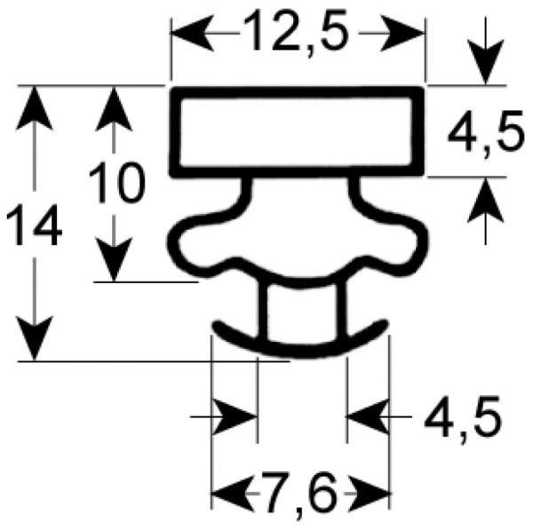Kältedichtung Profil 9373 L 2500mm