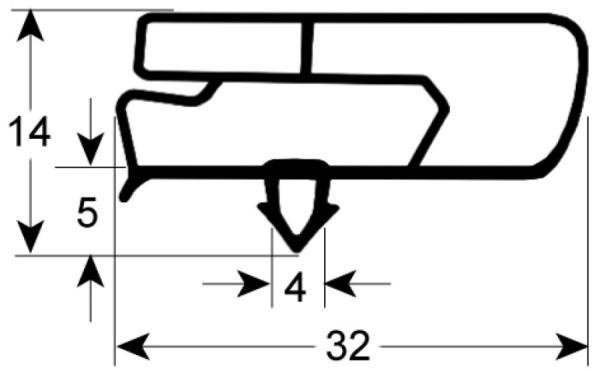 Kältedichtung Profil 9797 L 2500mm
