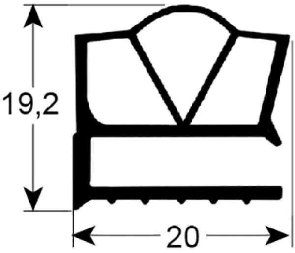 Kältedichtung Profil 9189 L 2500mm