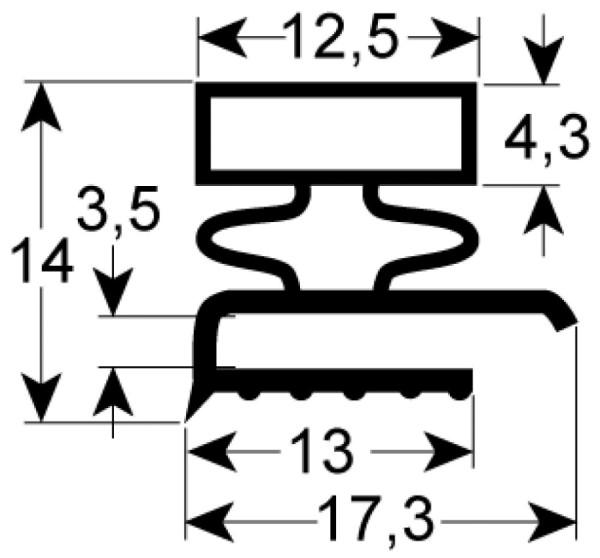 Kältedichtung Profil 9140 L 2500mm