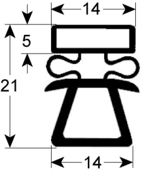 Kältedichtung Profil 9162 L 2500mm