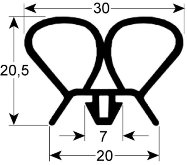 Kältedichtung Profil 9938 L 2500mm Steckmaß