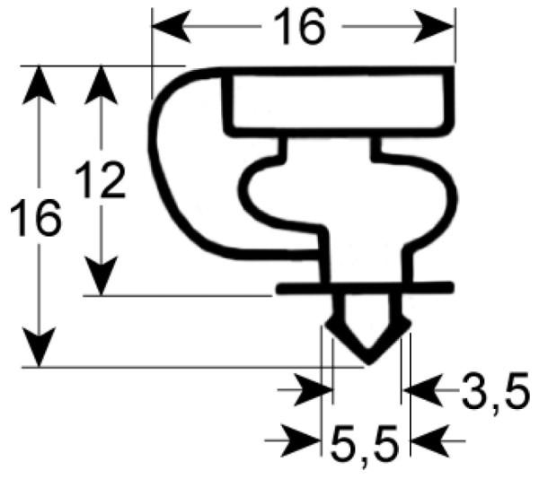 Kältedichtung Profil 9154 L 2500mm