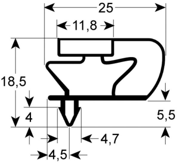 Kältedichtung Profil 9799 L 2500mm