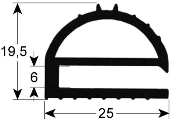 Kältedichtung Profil 9169 L 2500mm