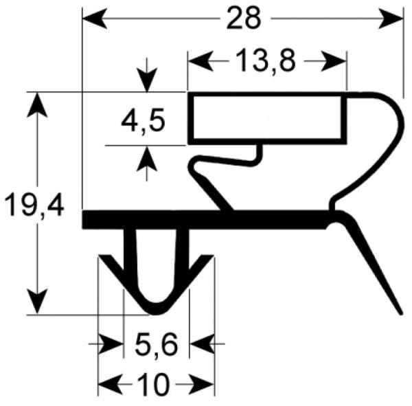Kältedichtung Profil 9044 L 2500mm