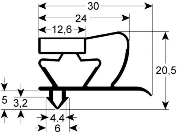 Kältedichtung Profil 9045 L 2500mm