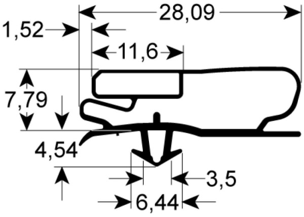 Kältedichtung Profil 9500 L 2500mm