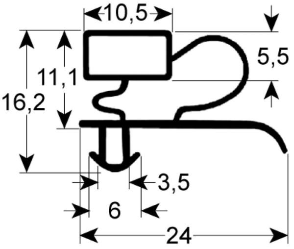Kältedichtung Profil 9333 L 2500mm