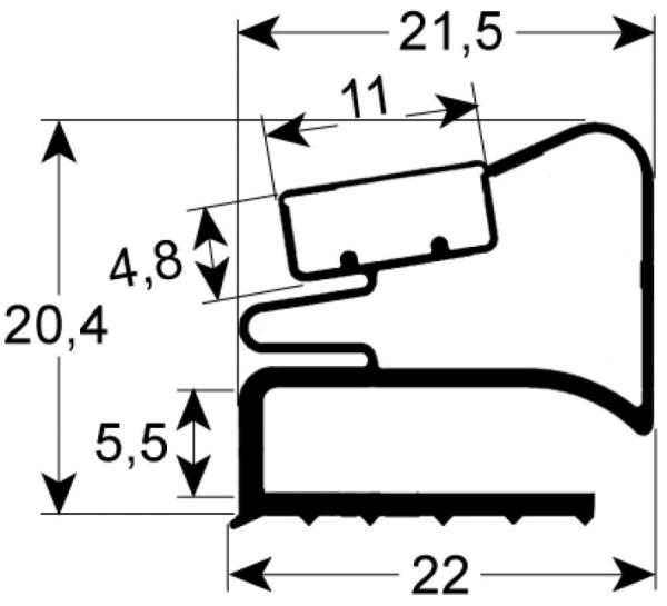 Kältedichtung Profil 9526 L 2500mm