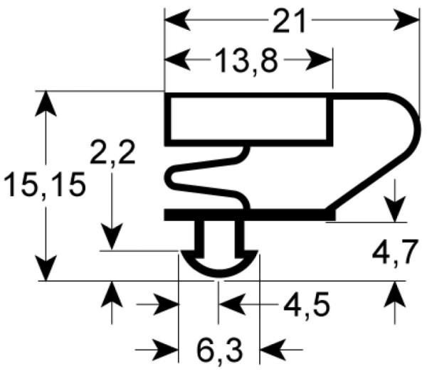Kältedichtung Profil 9704 L 2500mm