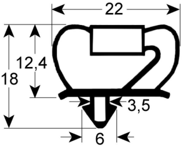 Kältedichtung Profil 9237 L 2500mm