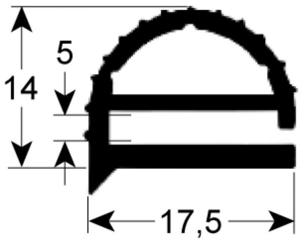 Kältedichtung Profil 9104 L 2500mm