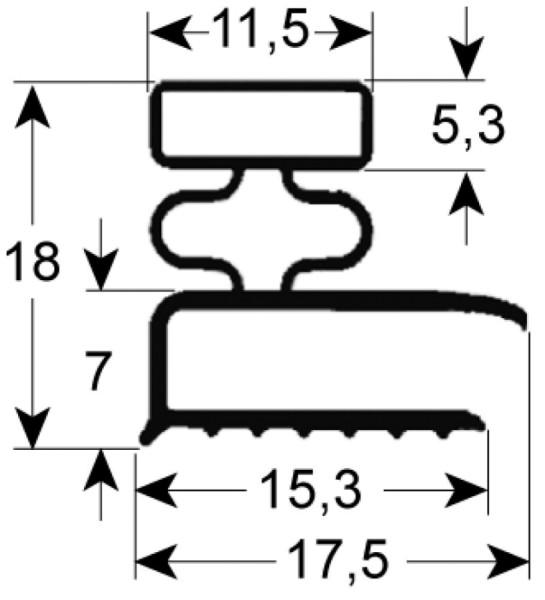 Kältedichtung Profil 9031 L 2500mm