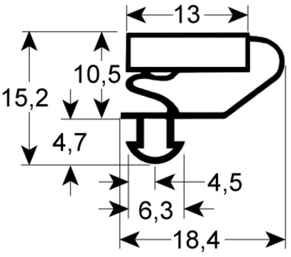 Kältedichtung Profil 9703 L 2500mm