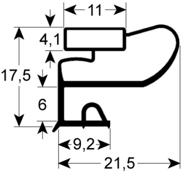 Kältedichtung Profil 9663 L 2500mm
