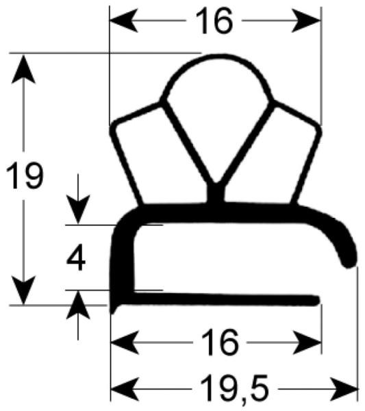 Kältedichtung Profil 9191 L 2500mm