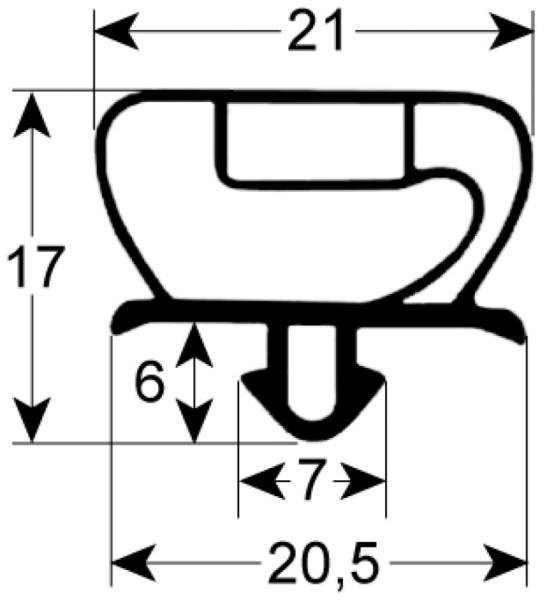 Kältedichtung Profil 9235 L 2500mm