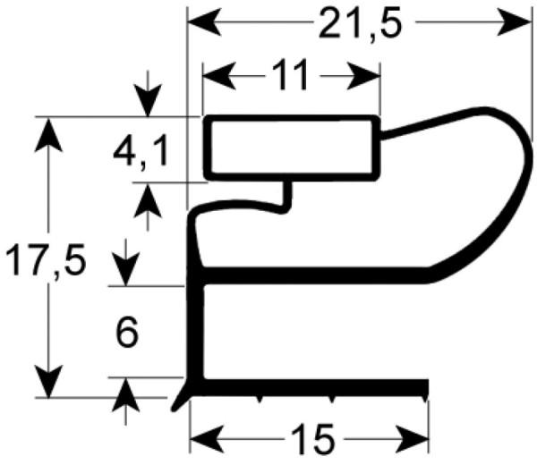 Kältedichtung Profil 9664 L 2500mm