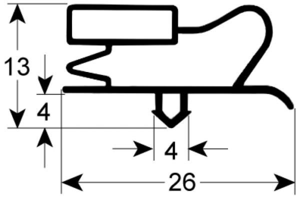 Kältedichtung Profil 9013 L 2500mm