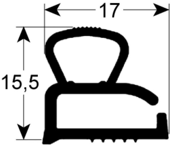 Kältedichtung Profil 9605 L 2500mm