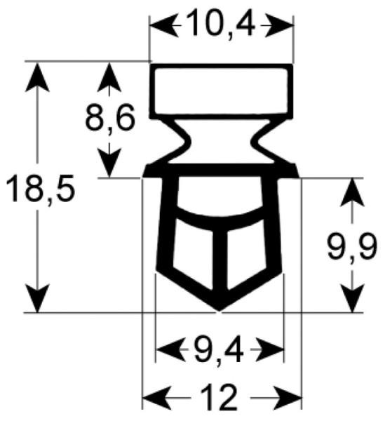 Kältedichtung Profil 9325 L 2500mm