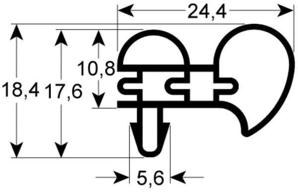 Kältedichtung Profil 9431 L 2500mm
