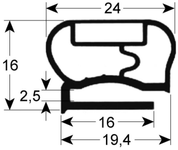 Kältedichtung Profil 9200 L 2500mm