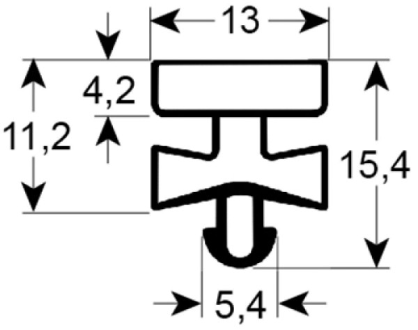 Kältedichtung Profil 9380 L 2500mm
