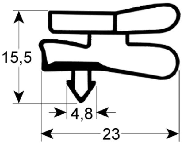 Kältedichtung Profil 9151 L 2500mm