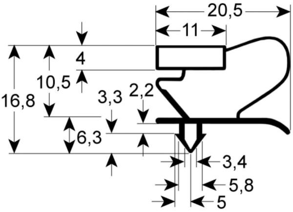 Kältedichtung Profil 9053 L 2500mm