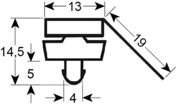 Kältedichtung Profil 9385 L 2500mm