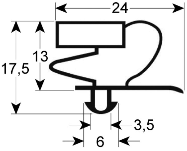 Kältedichtung Profil 9012 L 2500mm
