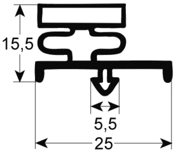 Kältedichtung Profil 9185 L 2500mm